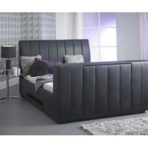 Shanaya Black TV Bed - 4ft6, 5ft, 6ft