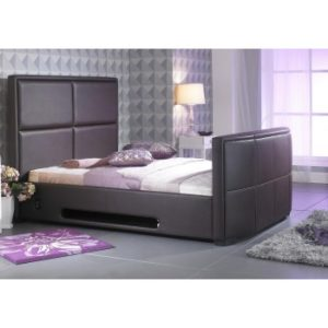 Zynah 4'6FT Double - Brown TV Bed inc Remote Control