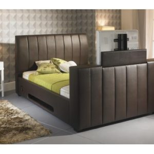 Shanaya Brown TV Bed - 6ft Super King Size