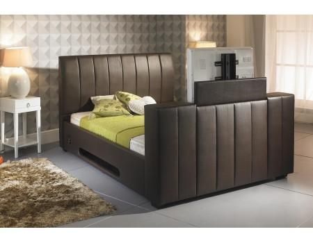 Shanaya Brown Tv Bed 6ft Super King Size Majestic Furnishings
