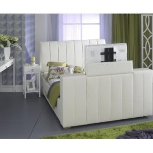 Shanaya 5'0ft King -  Ivory colour TV Bed