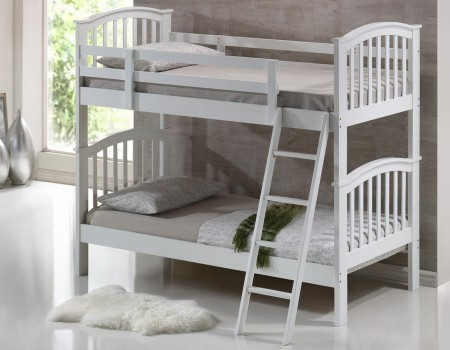 Children S Bunk Bed White Majestic Furnishings