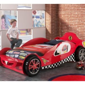 Formula 1 Mclaren Red Car Racer Bed