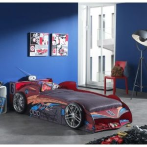 MRX Kids Racing Supercar Red Racing Car Bed