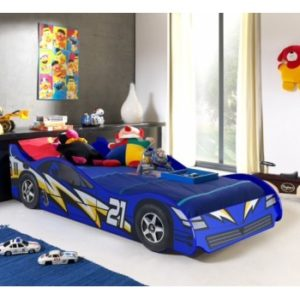 NO 21 Blue Lightning Racing Car Bed