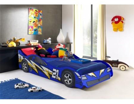 No 21 Blue Lightning Racing Car Bed Majestic Furnishings