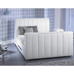 Shanaya White TV Bed - 4ft6, 5ft, 6ft