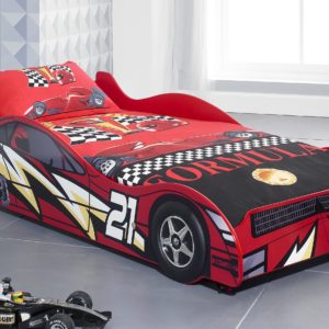 NO 21 Red Ligtning Racer Car Bed