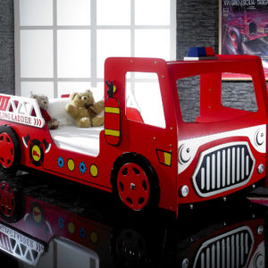 Red Fire Engine Bed With L.E.D Lights