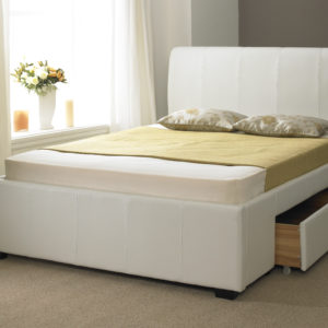 NWM WHITE DRAWER BED