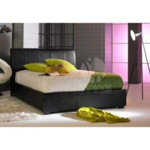 black-faux-leather-bed-