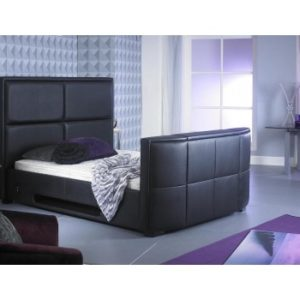 Zynah 4'6ft Double - Black TV Bed