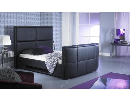 4\'6 Double Zynah Black TV Bed | Majestic Furnishings