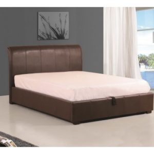 brown-faux-leather-bed-