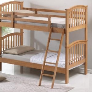Children's Bunk Bed - Oak Finish