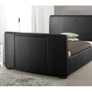 Majestic Black TV Bed - 4ft6, 5ft