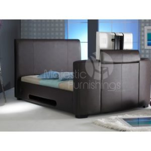 Majestic 4'6ft Double - Brown TV Bed