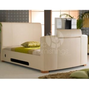 Majestic Ivory TV Bed - 4ft6, 5ft, 6ft