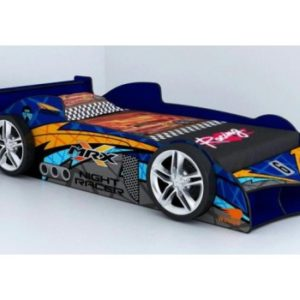 MRX Kids Racing Supercar Blue Racing Car Bed