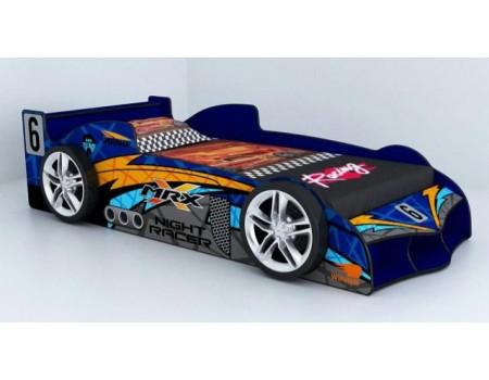 Mrx Kids Racing Supercar Blue Racing Car Bed