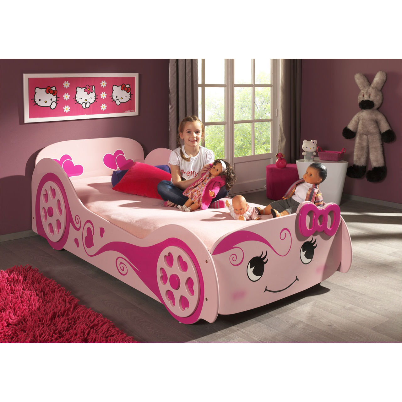 Picture of: Girls Princess Love Car Bed Majestic Furnishings