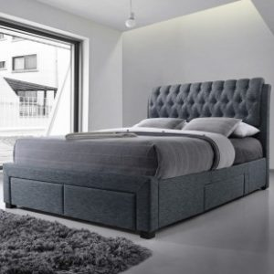 Designer 4 Drawer Grey Storage Bed - 5ft