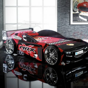 MRX Black Racing Car Bed