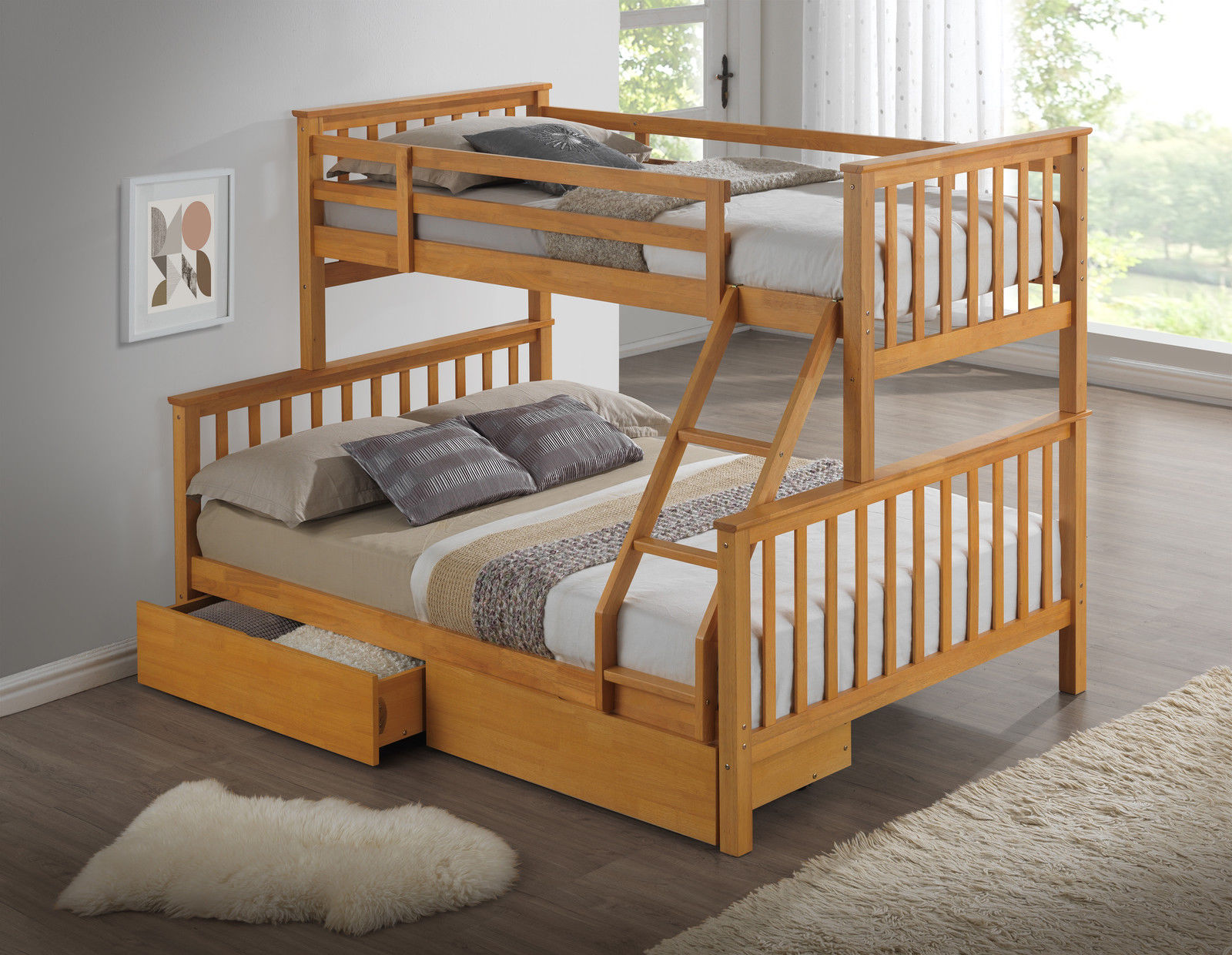 childrens bunk beds new beech1 31387