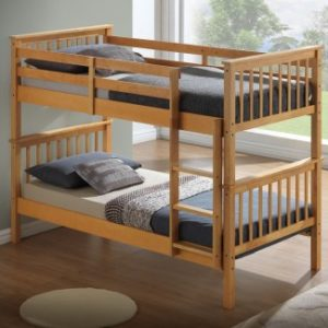 Children's Bunk Bed - Beech - Drawer Options