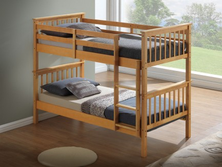 Children S Bunk Bed Beech Drawer Options Majestic Furnishings
