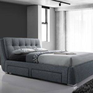 Signature 4 Drawer Grey Storage Bed - 5ft