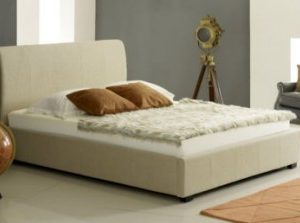 Cream Ottoman Storage Bed - 4ft6
