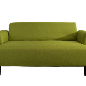 Contemporary 2 Seater Fabric Sofa - Green