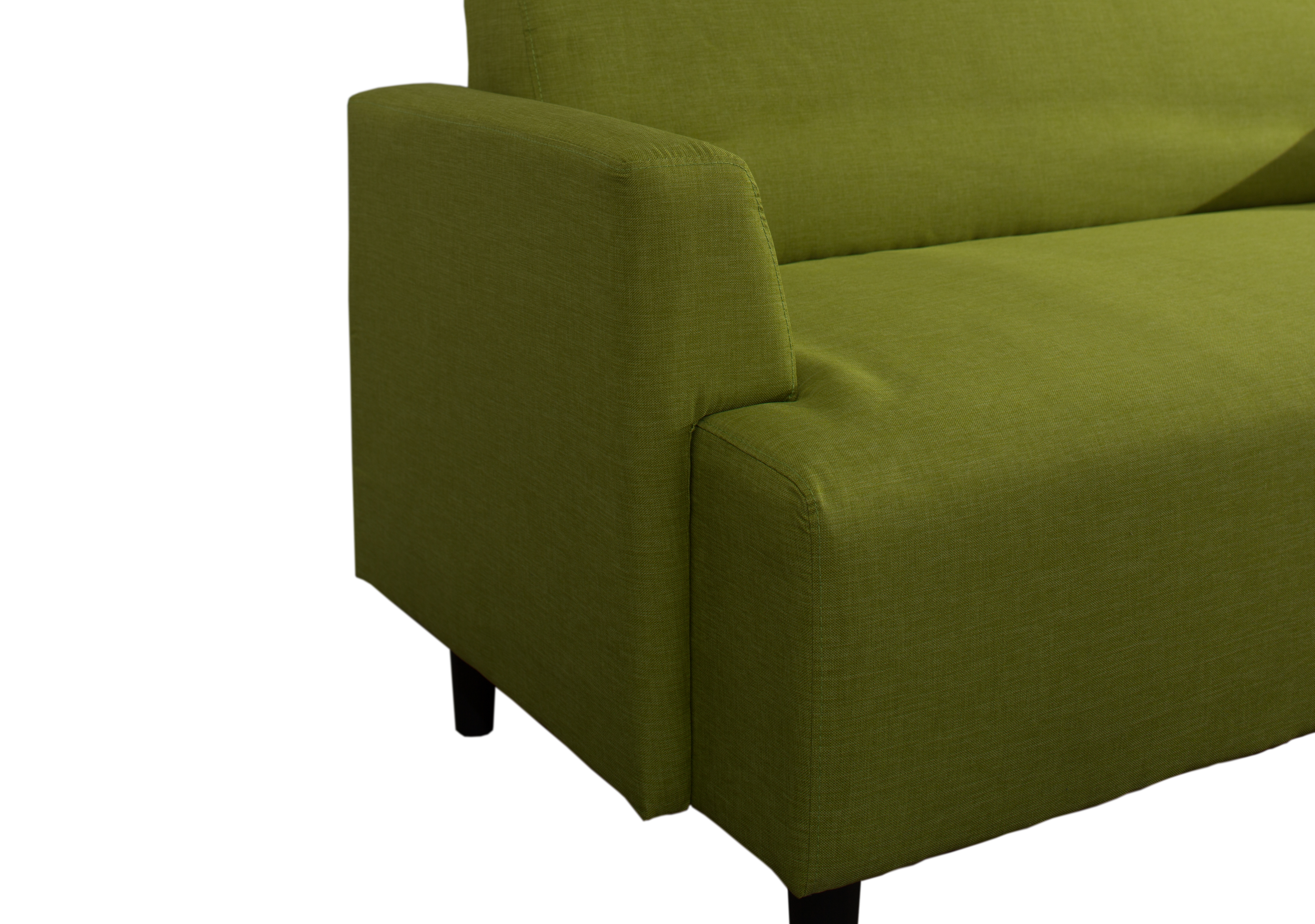 Contemporary 2 Seater Fabric Sofa Green Majestic