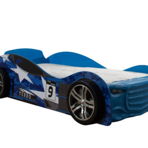 Turbo Blue Car Racer Bed