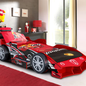Red Speedracer Car Bed - Drawer Storage