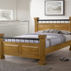 Oak Wooden Rolo Bed - 4ft6