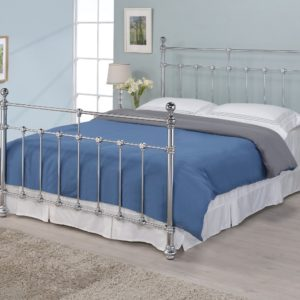Silver Metal Bed Frame - 4'6