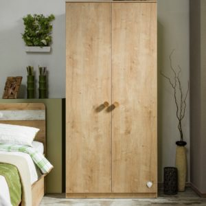 Cilek Mocha Medium 2 door Wardrobe - Modern Style - Wooden Texture