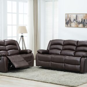 Recliner Brown Leather Sofa