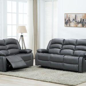 Recliner Grey Leather Sofa