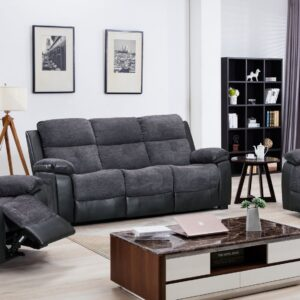 Fabric / Half Leather Grey Sofa Range