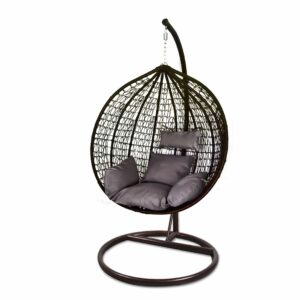 Egg Hanging Chair - Brown with Grey Cushion - Model RC0001