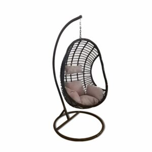 Egg Hanging Chair - Brown with Grey Cushion - Model RC0002